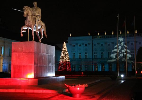 Pałac Prezydencki świątecznie